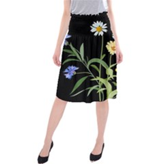 Flowers Of The Field Midi Beach Skirt