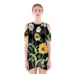 Flowers Of The Field Shoulder Cutout One Piece