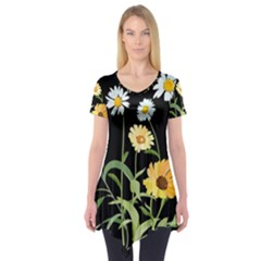 Flowers Of The Field Short Sleeve Tunic