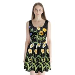Flowers Of The Field Split Back Mini Dress