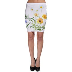 Flowers Flower Of The Field Bodycon Skirt