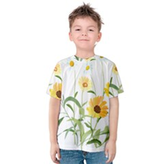 Flowers Flower Of The Field Kids  Cotton Tee