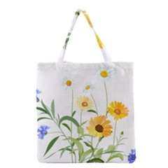 Flowers Flower Of The Field Grocery Tote Bag