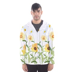 Flowers Flower Of The Field Hooded Wind Breaker (men)