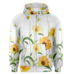 Flowers Flower Of The Field Men s Zipper Hoodie