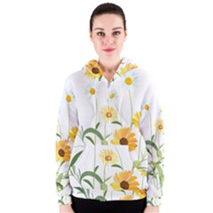 Flowers Flower Of The Field Women s Zipper Hoodie