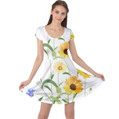 Flowers Flower Of The Field Cap Sleeve Dresses