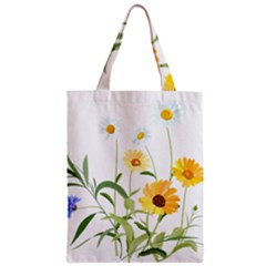 Flowers Flower Of The Field Zipper Classic Tote Bag