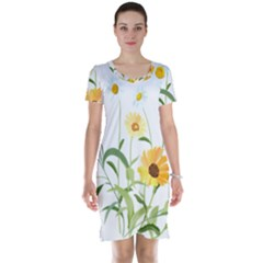 Flowers Flower Of The Field Short Sleeve Nightdress