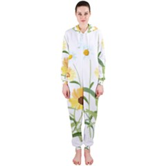 Flowers Flower Of The Field Hooded Jumpsuit (ladies)