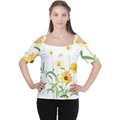 Flowers Flower Of The Field Women s Cutout Shoulder Tee