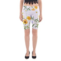 Flowers Flower Of The Field Yoga Cropped Leggings