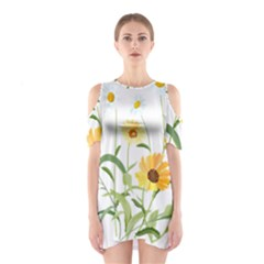 Flowers Flower Of The Field Shoulder Cutout One Piece