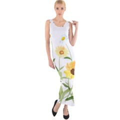 Flowers Flower Of The Field Fitted Maxi Dress
