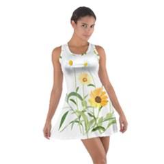 Flowers Flower Of The Field Cotton Racerback Dress