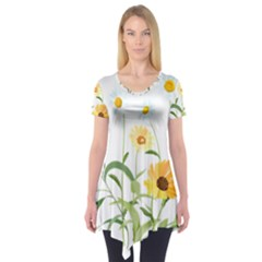 Flowers Flower Of The Field Short Sleeve Tunic