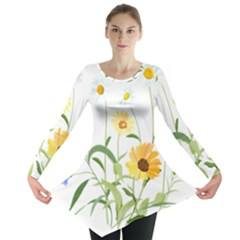 Flowers Flower Of The Field Long Sleeve Tunic