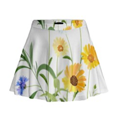 Flowers Flower Of The Field Mini Flare Skirt
