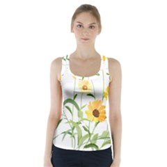 Flowers Flower Of The Field Racer Back Sports Top
