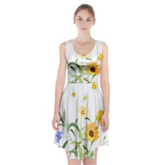Flowers Flower Of The Field Racerback Midi Dress