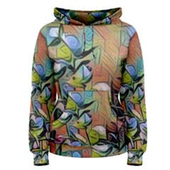 Spring Flowers Magic Cube Women s Pullover Hoodie