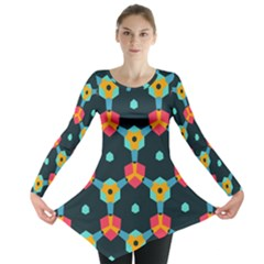Connected shapes pattern          Long Sleeve Tunic