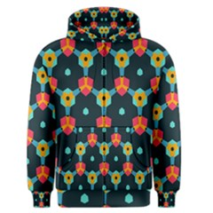 Connected shapes pattern          Men s Zipper Hoodie