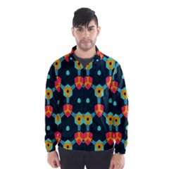 Connected shapes pattern          Wind Breaker (Men)