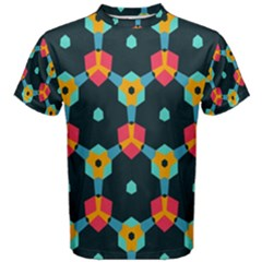 Connected shapes pattern          Men s Cotton Tee
