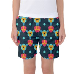 Connected shapes pattern    Women s Basketball Shorts