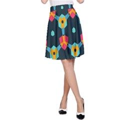 Connected shapes pattern          A-line Skirt