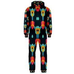 Connected shapes pattern          Hooded Jumpsuit (Men)