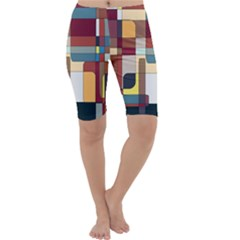 Patchwork Cropped Leggings