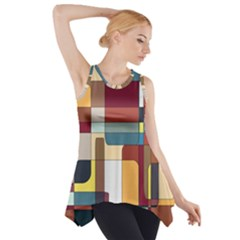 Patchwork Side Drop Tank Tunic