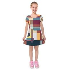 Patchwork Kids  Short Sleeve Velvet Dress