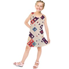 Squares in retro colors        Kid s Tunic Dress