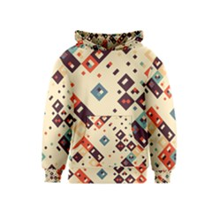 Squares in retro colors         Kid s Pullover Hoodie