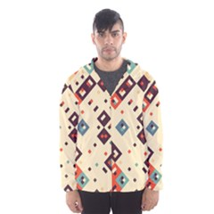 Squares in retro colors         Mesh Lined Wind Breaker (Men)