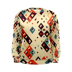 Squares in retro colors          Women s Sweatshirt