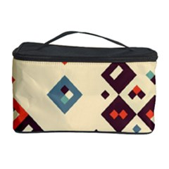 Squares in retro colors         Cosmetic Storage Case