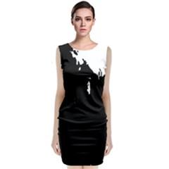 Abstraction Sleeveless Velvet Midi Dress