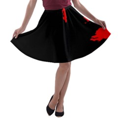 Abstraction A-line Skater Skirt
