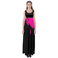 Abstraction Empire Waist Maxi Dress