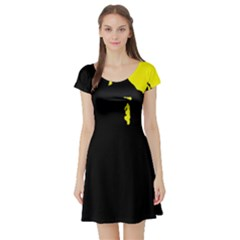 Abstraction Short Sleeve Skater Dress
