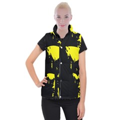Abstraction Women s Button Up Puffer Vest