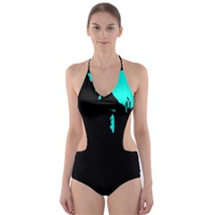 Abstraction Cut-Out One Piece Swimsuit