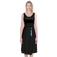 Abstraction Midi Sleeveless Dress