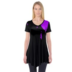 Abstraction Short Sleeve Tunic