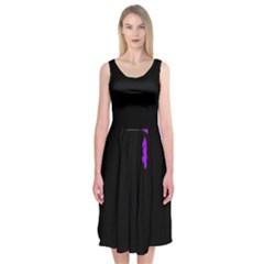 Abstraction Midi Sleeveless Dress