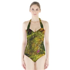 Dragonfly Dragonfly Wing Insect Halter Swimsuit